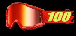 100 PROCENT ACCURI SAARINEN CZERWONY/CZERW. GOGLE