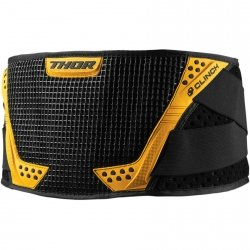 THOR PAS CLINCH SUPPORT BELT BLACK/YELLOW =$