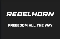REBELHORN ODZNAKA NA RZEP FREEDOM ALL THE WAY BLAC