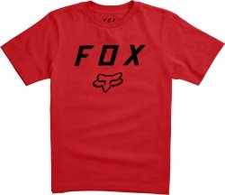 T-SHIRT FOX JUNIOR LEGACY MOTH DARK RED