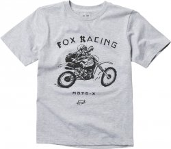 T-SHIRT FOX JUNIOR BRIGADE LIGHT HEATHER GREY