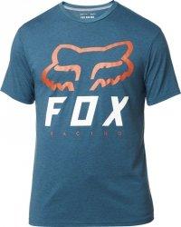 FOX T-SHIRT HERITAGE FORGER TECH HEATHER MAUI BLU