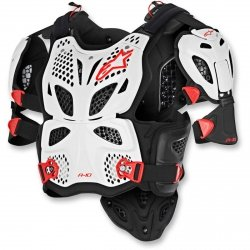 BUZER ALPINESTARS A-10 FULL WHITE/BLACK