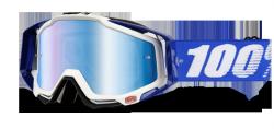 GOGLE 100% RACECRAFT COBALT BLUE +SZYBKA +ZRYWKI