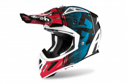 AIROH KASK OFF-ROAD AVIATOR ACE KYBON BLUE/RED GLO