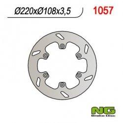 NG1057 TARCZA HAMULCOWA GAS GAS ENDUR CROSS ATV 125/250/300/400/450/515 (267X132X5) - ZASTĘPUJE NG177