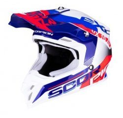 SCORPION KASK CROSS VX-16 AIR ARHUS WH-BLUE NE RED