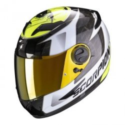 SCORPION KASK INTEGRALNY EXO-490 TOUR WHITE NEON Y