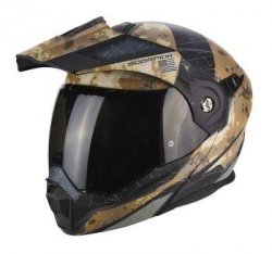 SCORPION KASK ADX-1 BATTLEFLAGE SAND-GREY