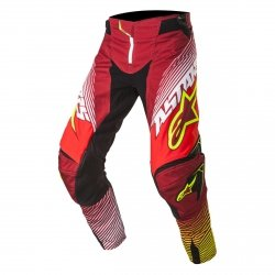 SPODNIE ALPINESTARS TECHSTAR FACTORY S7 RED/WH/YE F