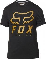 FOX T-SHIRT HERITAGE FORGER TECH BLACK/YELLOW