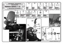 GIVI A283A MOCOWANIE SZYBY YAMAHA CIGNUS X125 '07