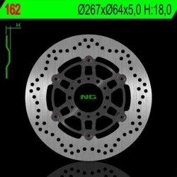 NG162 TARCZA HAMULCOWA YAMAHA SR 250 CLASSIC '95-'03, XV 250 VIRAGO '91-'94 (PŁYWAJĄCA) (267X64X5) (6X8,5MM)