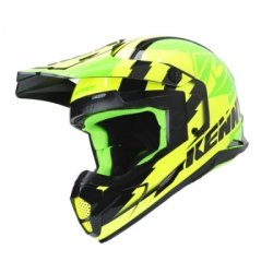 KENNY KASK OFF-ROAD TRACK GREEN/NEON/YELLOW 2019