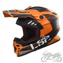 KASK LS2 MX456 LIGHT RALLIE ORANGE BLACK