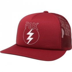 FOX CZAPKA Z DASZ. LADY REPENTED TRUCKER DARK RED