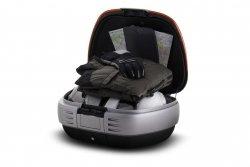 Kufer centralny SHAD SH50 + oparcie - 50 litrów