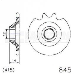 Zębatka przednia JT 20-0845-12, 12Z, rozmiar 415 2200714