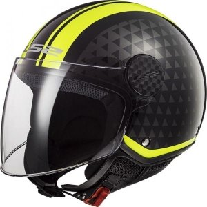 KASK LS2 OF558 SPHERE LUX CRUSH BL. H-V YELLOW