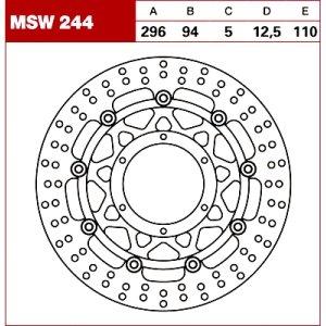 TRW Tarcza hamulcowa MSW244 HONDA VTX 1800 C CBR 6
