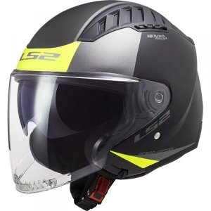 KASK LS2 OF600 COPTER URBANE MATT BLACK H-V YELL