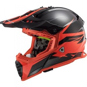 KASK LS2 MX437 FAST EVO ROAR BLACK RED