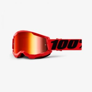 100 PROCENT GOGLE MODEL STRATA 2 RED MIRROR RED