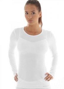 Brubeck LS11610 Koszulka damska z długim rękawem COMFORT WOOL kremowy