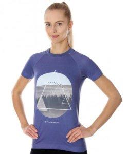 Brubeck SS13230  Koszulka damska City Air fioletowy - krajobraz