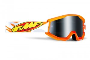 FMF GOGLE POWERCORE ASSAULT GREY SZYBA MIRROR SIL