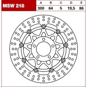 TRW Tarcza hamulcowa MSW218 SUZUKI RG 125 VZ 8 GSX