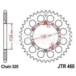 Zębatka tylna stalowa JT 460-51, 51Z, rozmiar 520 2301149 Kawasaki KX 500