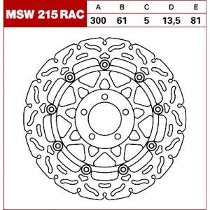 TRW Tarcza hamulcowa MSW215RAC KAWASAKI GTR GPZ ZL