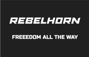REBELHORN ODZNAKA NA RZEP FREEDOM ALL THE WAY BLAC