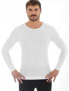 Brubeck LS11600 Koszulka męska z długim rękawem COMFORT WOOL kremowy