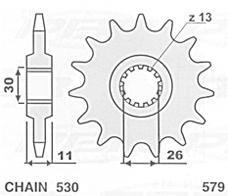JR ZĘBATKA 579 17 YAMAHA R1/ FJ 1200/ XJR (57917JT) 57917JR