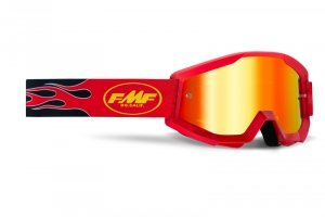 FMF GOGLE POWERCORE FLAME RED SZYBA MIRROR RED