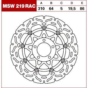 TRW Tarcza hamulcowa MSW219RAC SUZUKI GS 500 GSF 4