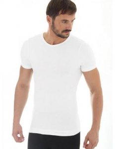 Brubeck SS11030 Koszulka męska z krótkim rękawem COMFORT WOOL kremowy