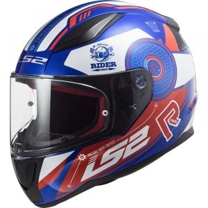 KASK LS2 FF353 RAPID STRATUS BLUE RED WHITE