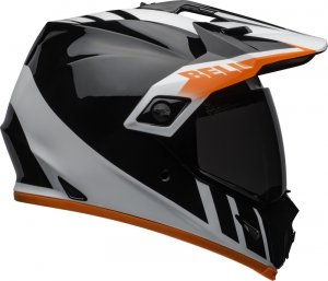 BELL KASK  MX-9 ADVENTURE MIPS DASH BLACK/WHITE/OR