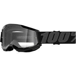 100 PROCENT GOGLE STRATA 2 YOUTH GOGGLE BLACK CLEA
