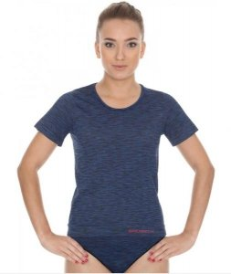 Brubeck SS11570 Koszulka damska z krótkim rękawem FUSION ciemnoniebieski