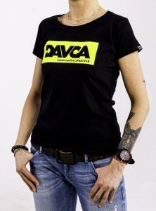 DAVCA T-shirt codzienny black fluo logo