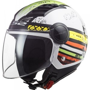 KASK LS2 OF562 AIRFLOW RONNIE WHITE GREEN