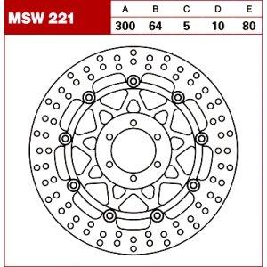 TRW Tarcza hamulcowa MSW221 YAMAHATRX TDM  MOTO