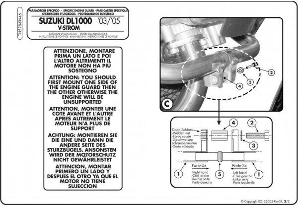 Givi TN528 Gmole DL 1000 V-Strom (02 > 11)