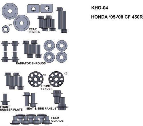 ZESTAW ŚRUB KEITI DO HONDY 05-08 CRF 450R