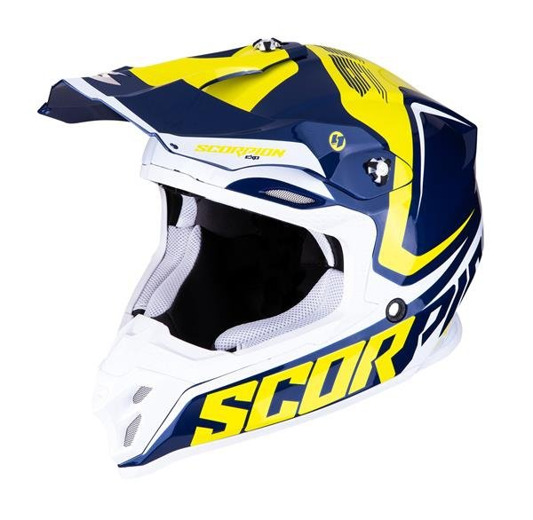 SCORPION KASK CROSS VX-16 AIR ERNEE BLUE YEL WHITE