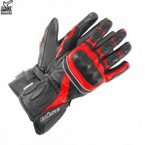 Rękawice motocyklowe BUSE Pit Lane czarno-czerwone